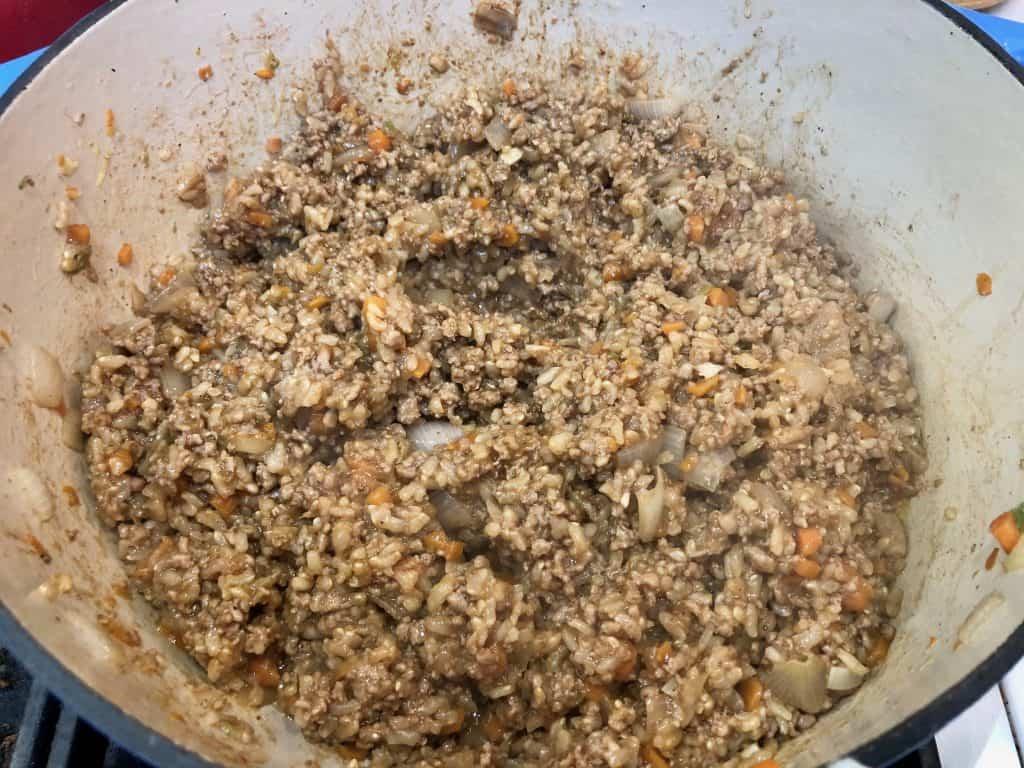 Ground pork stir fry