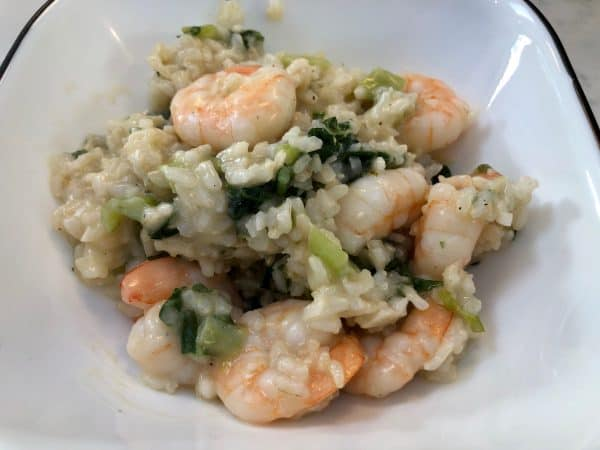 Garlic Butter Shrimp and Brown Rice