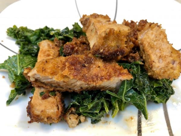 Panko Pork Chop with Butter and Wine Sauce