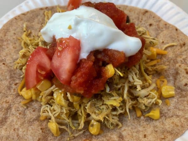 Shredded Tumeric Chicken Tacos