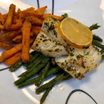 Garlic Butter Baked Cod
