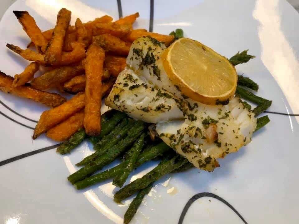 Garlic Butter Baked Cod
