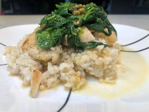 Chicken and Lemon Caper Sauce