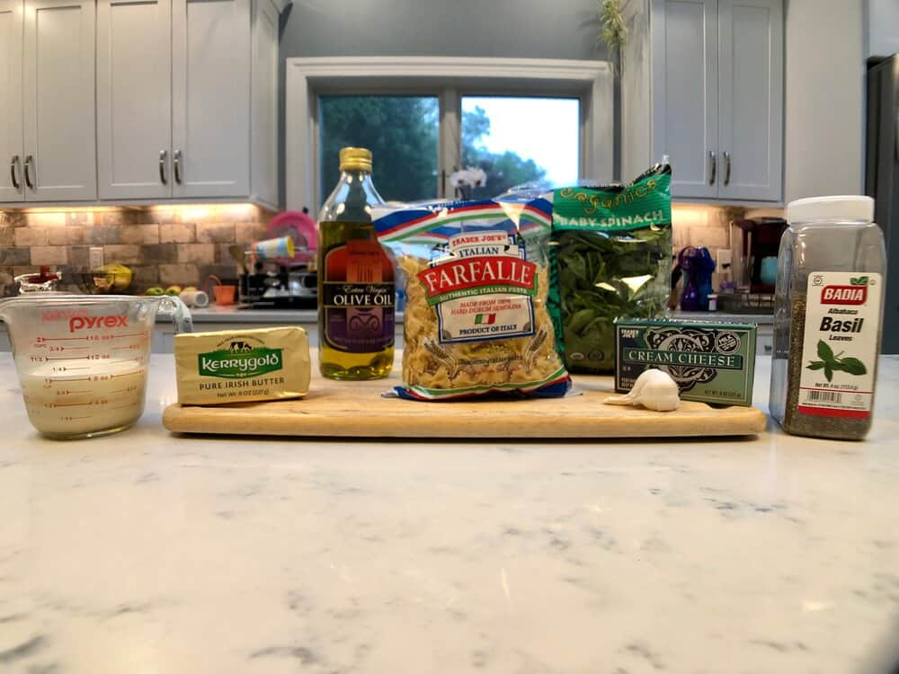 Ingredients laid out on a countertop