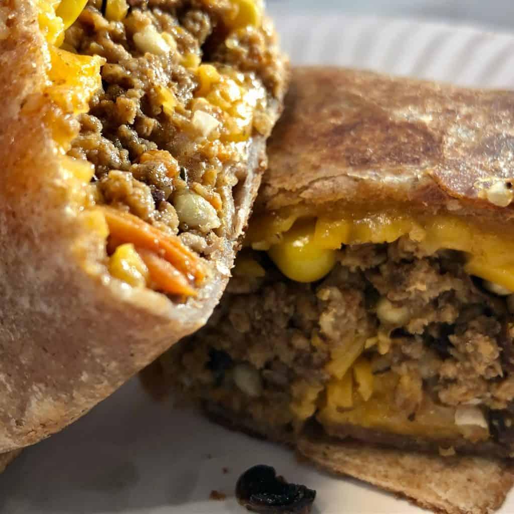 Healthy turkey and black bean burrito