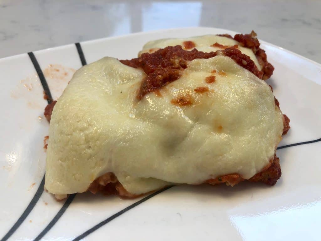 Chicken parmesan on a plate