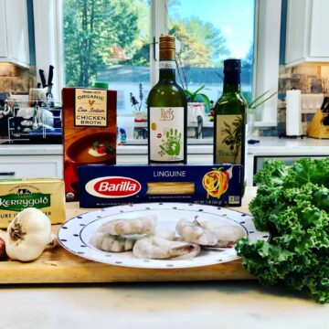 Ingredients laid out on a cutting board