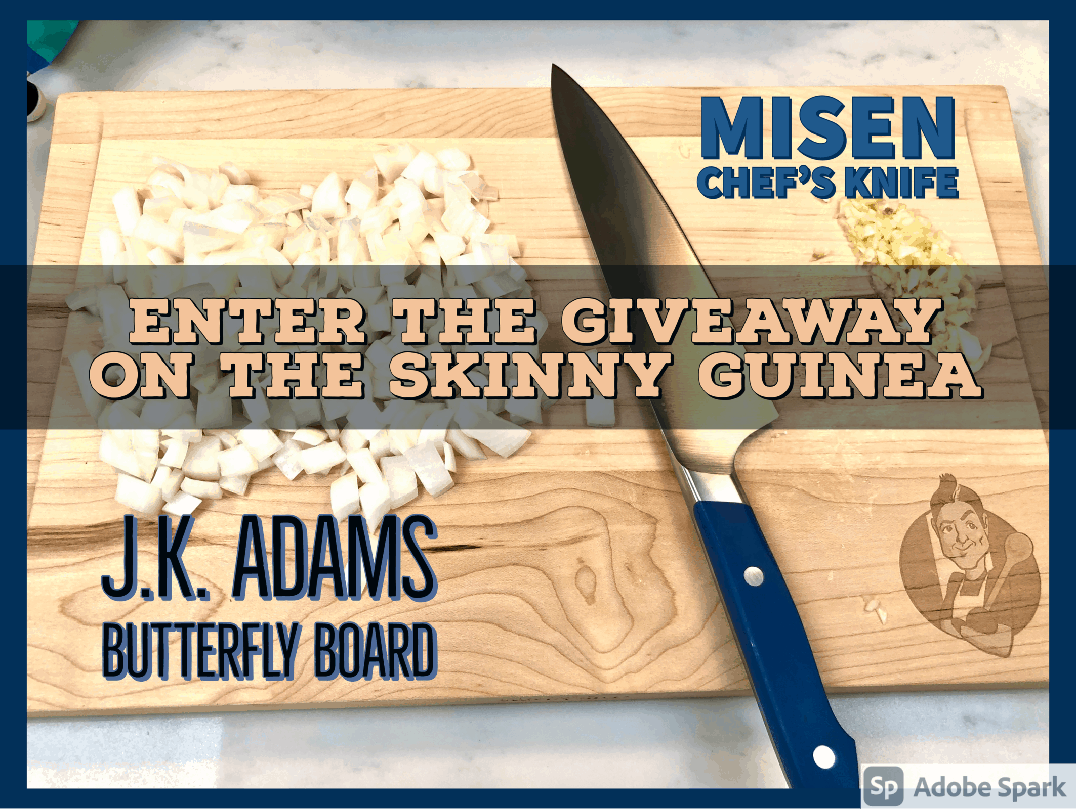 J.K. Adams Cutting Board and Misen Chef's Knife Giveaway
