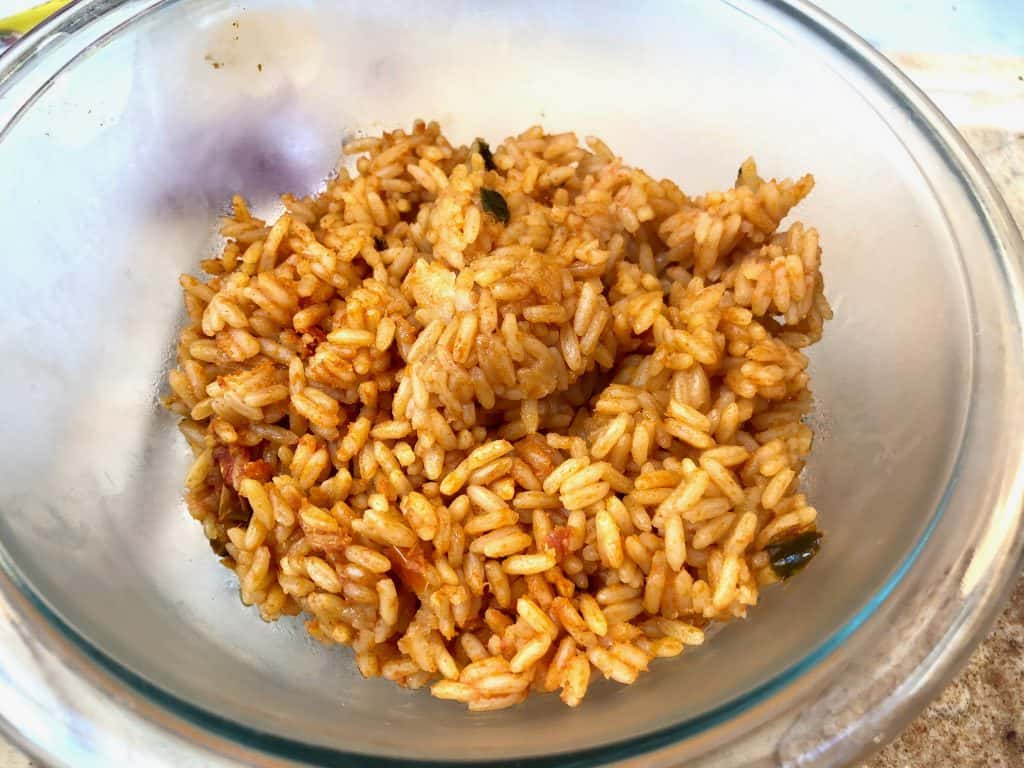 Spanish rice in a bowl