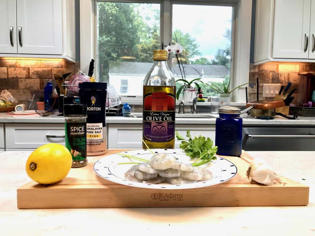 Grilled shrimp skewers ingredients