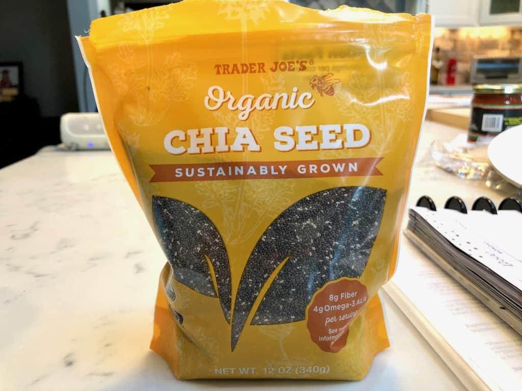 A bag of chia seeds