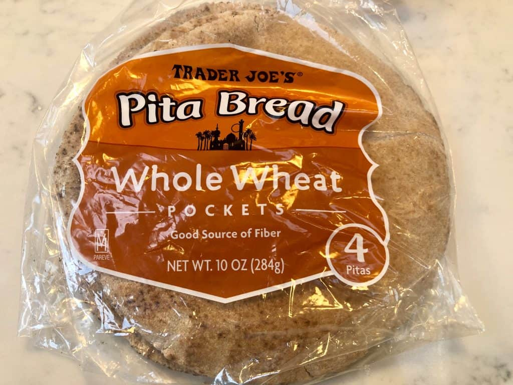 Whole wheat pitas in a bag