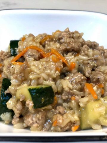 Healthy ground pork stir fry