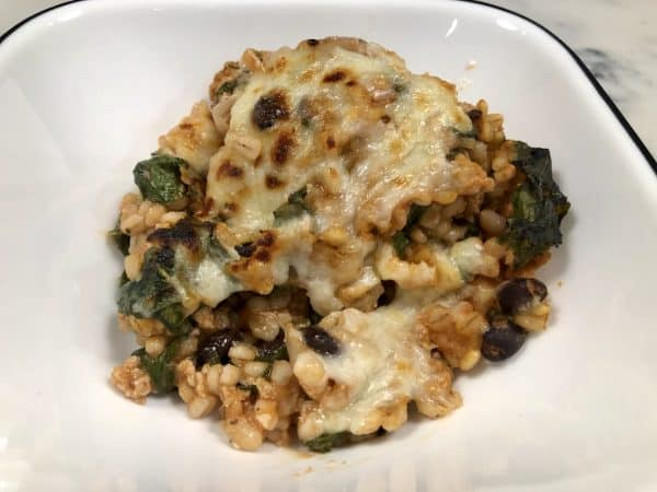 Cheesy Turkey Casserole with Spinach