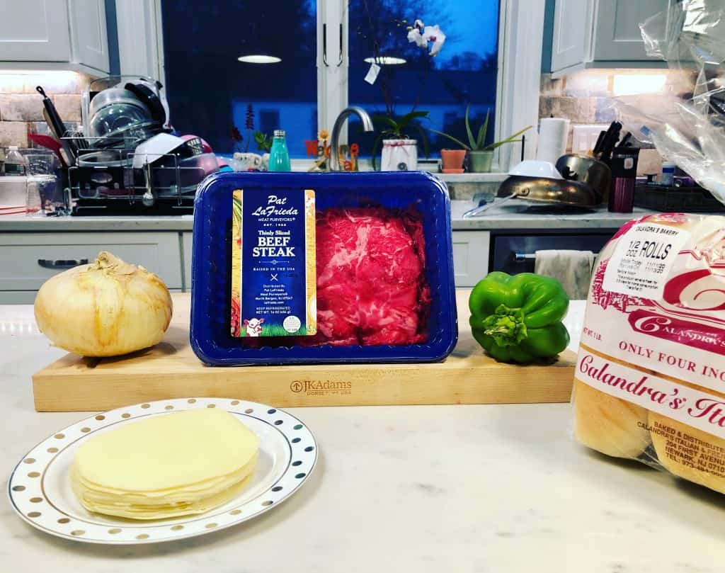 Ingredients for philly cheesesteak