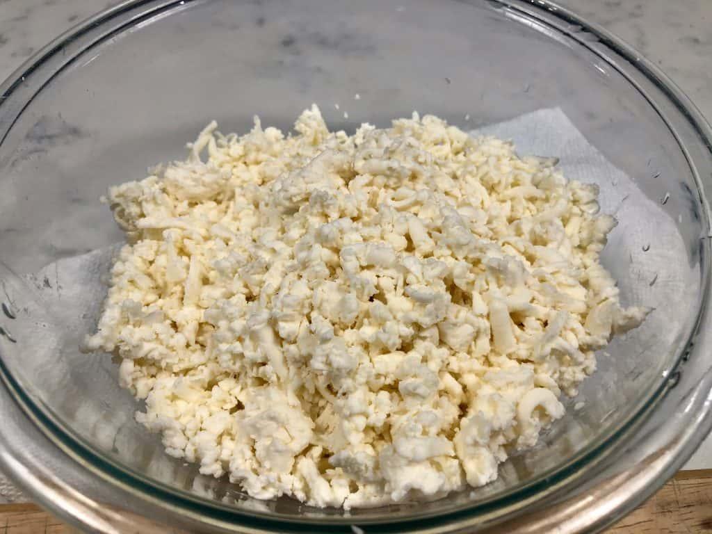 Shredded fresh mozzarella