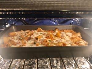 Baked rigatoni pasta al forno