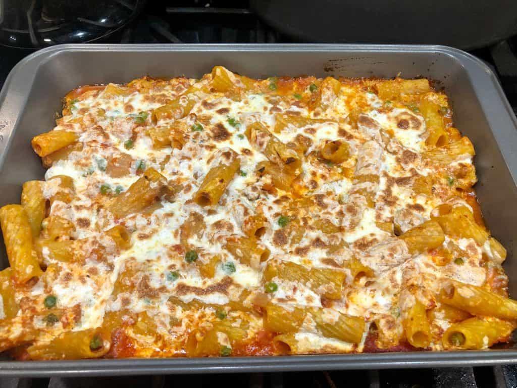 Baked rigatoni (pasta al forno)