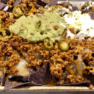 Ground turkey nachos