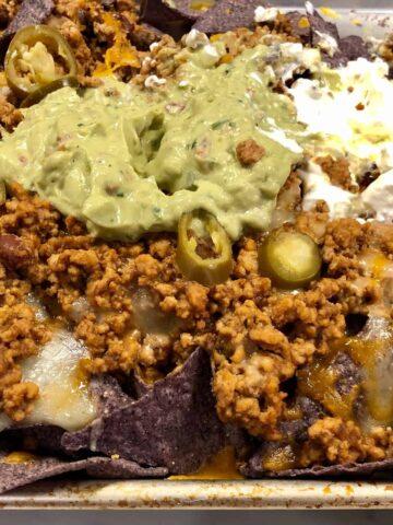 Ground turkey nachos