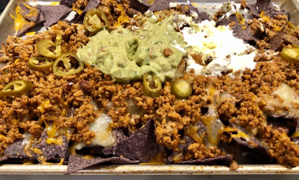 Ground Turkey Nachos with Blue Corn Tortillas