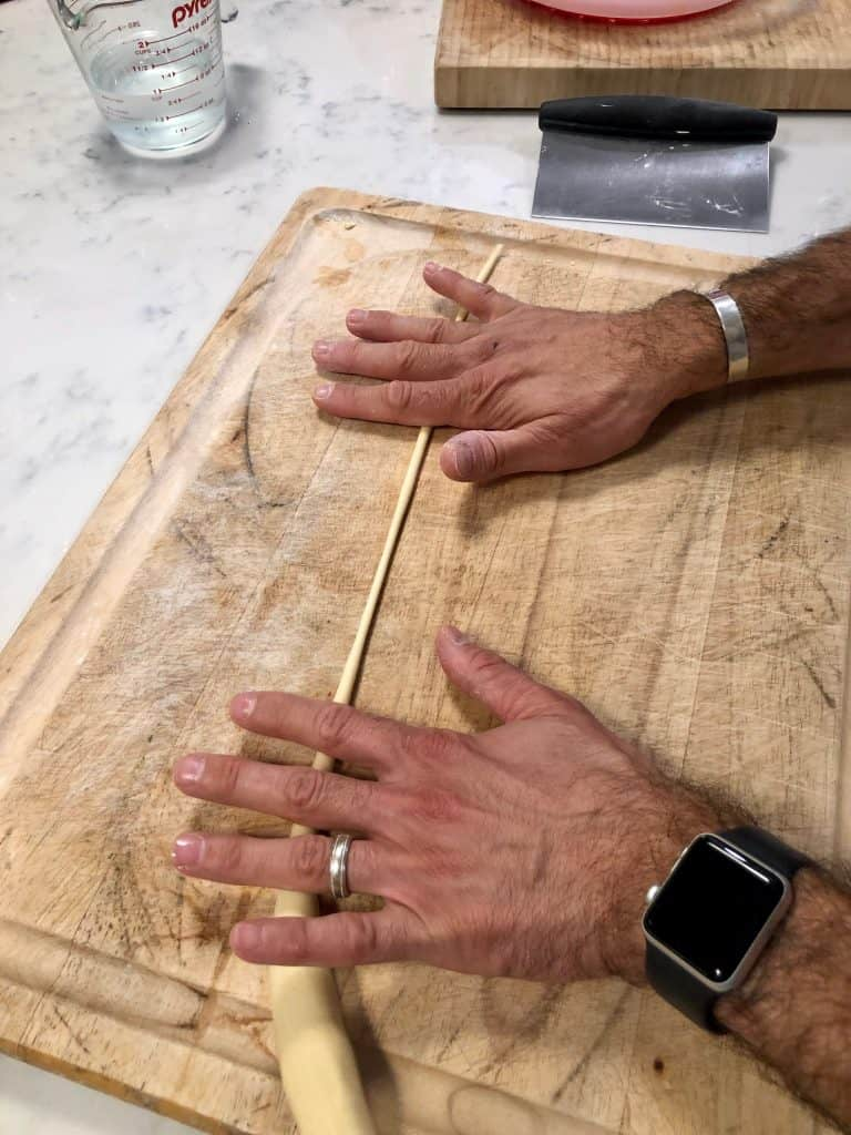 Rolling pasta dough very thin