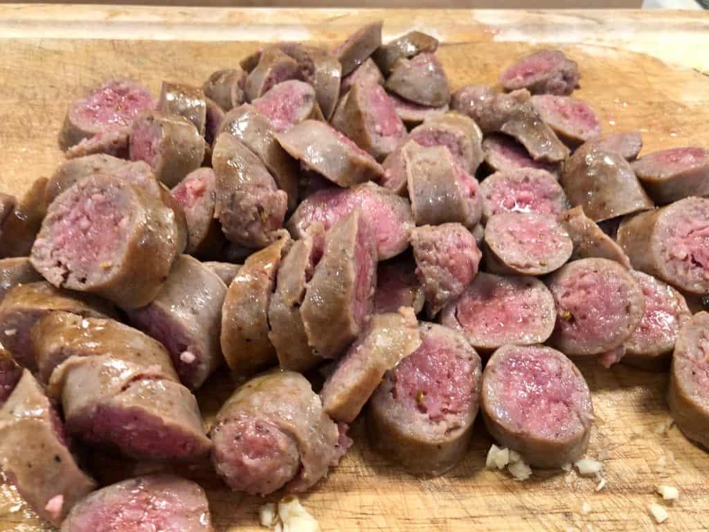 Sliced sausages