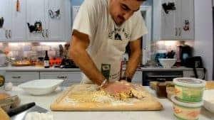 Forming egg pasta dough