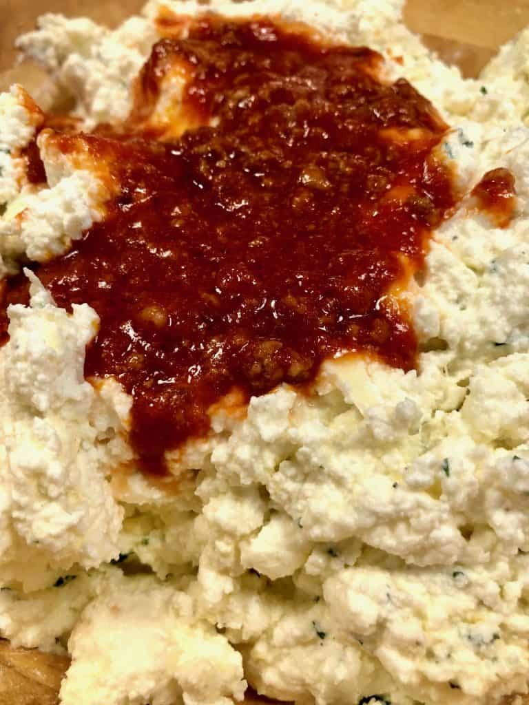 Ricotta mixture for homemade lasagna