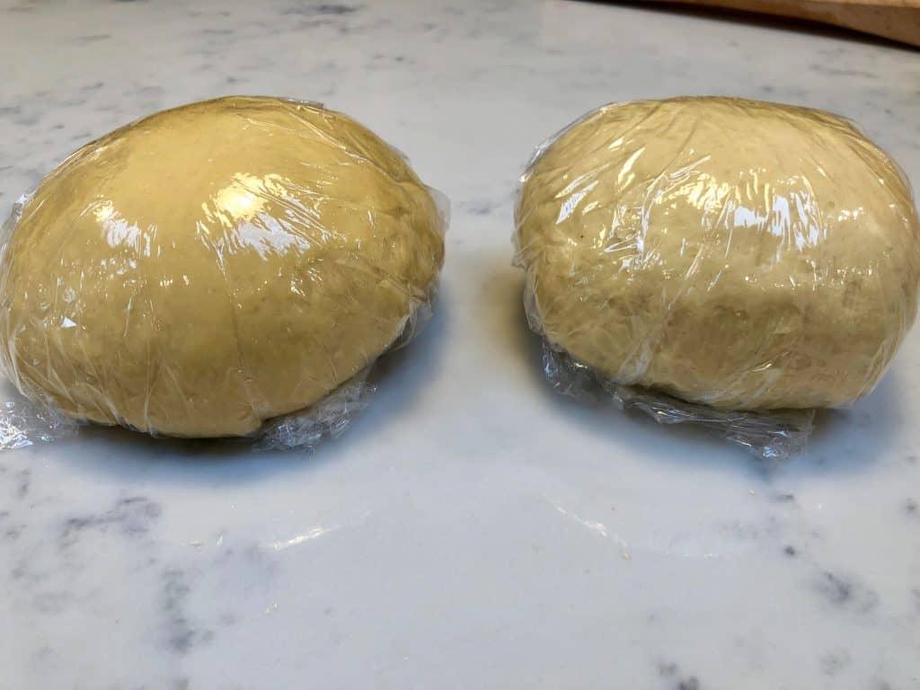 wrapped egg pasta dough