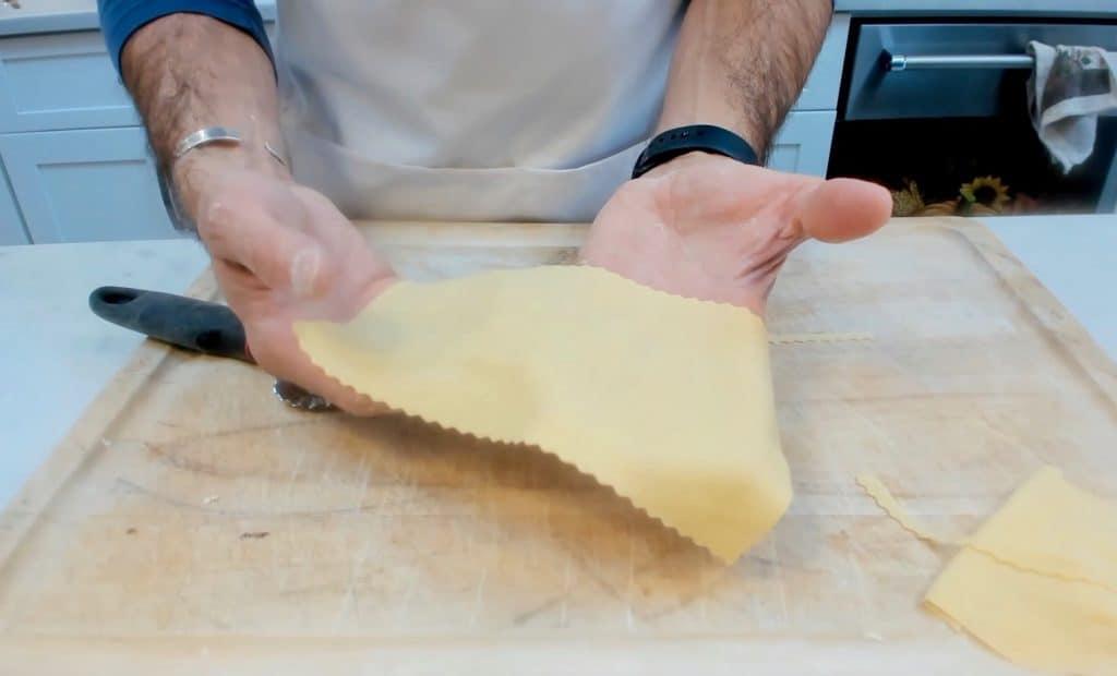 homemade lasagna pasta