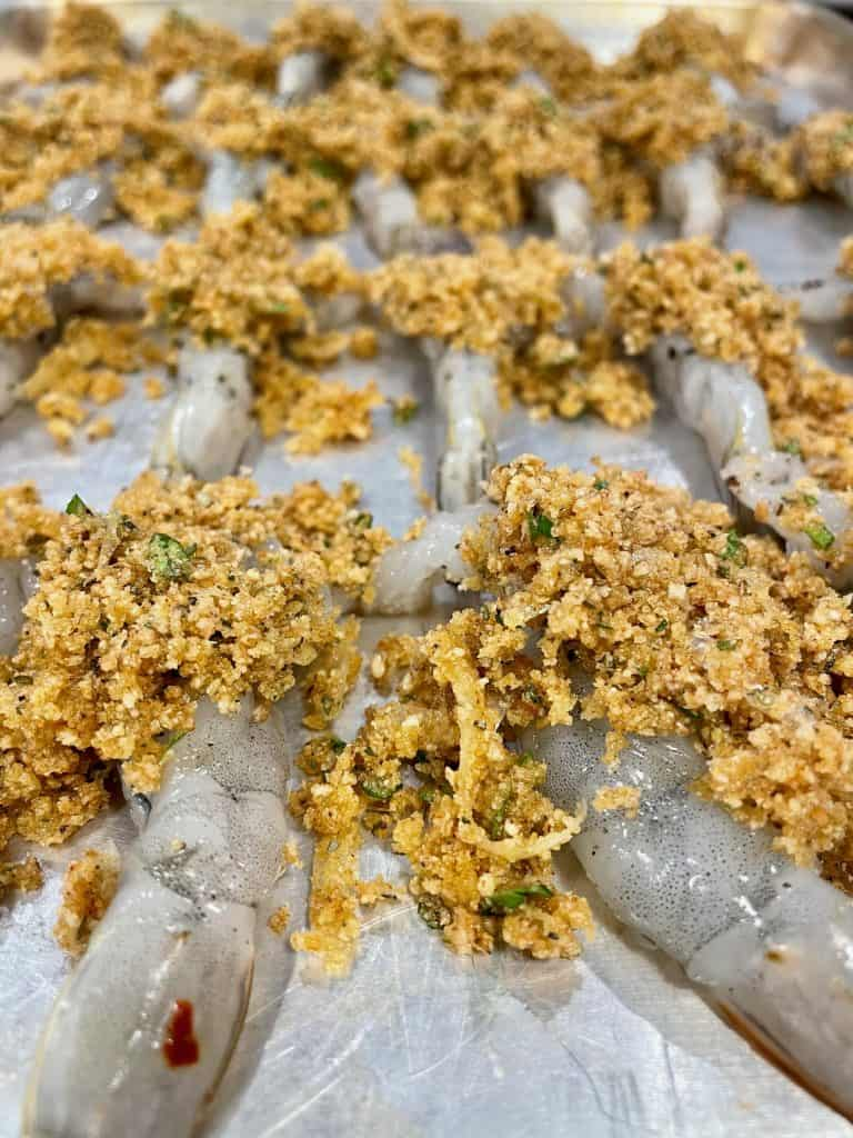 stuffed shrimp with breadcrumbs