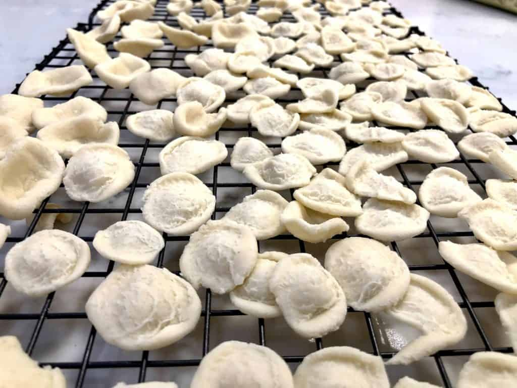 homemade orecchiette pasta