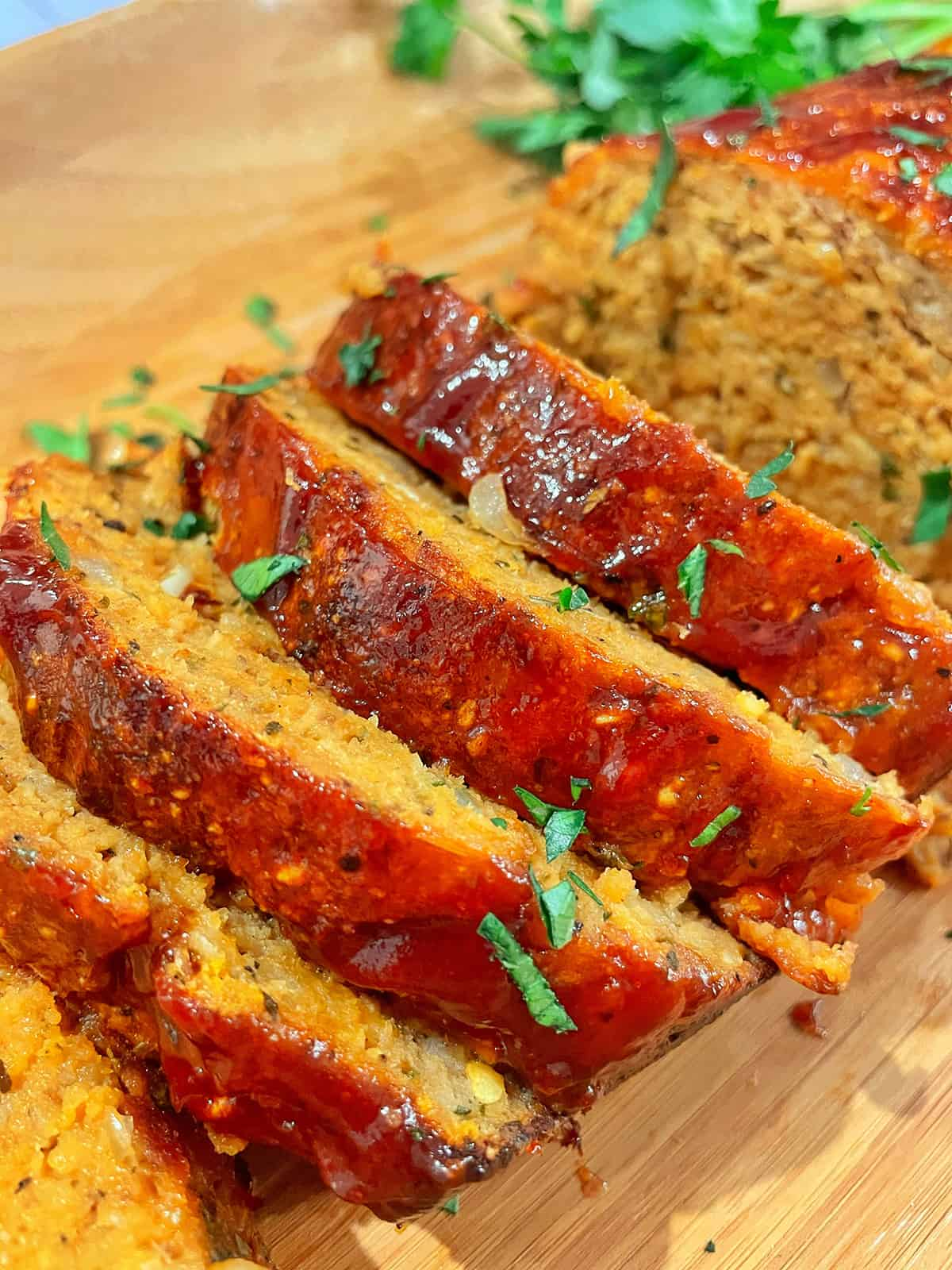 closeup of chicken meatloaf