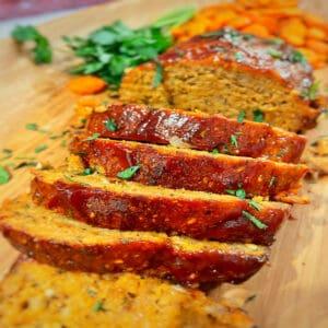 chicken meatloaf close-up